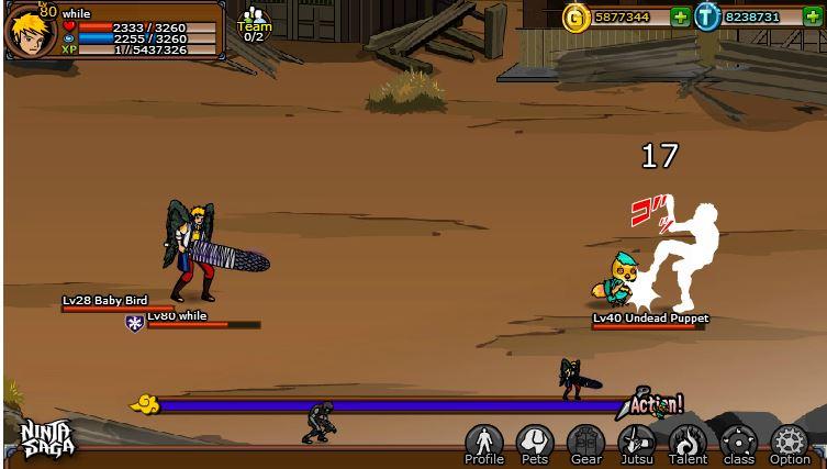ninja saga facebook